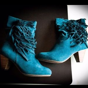 gorgeous stacked heel boots